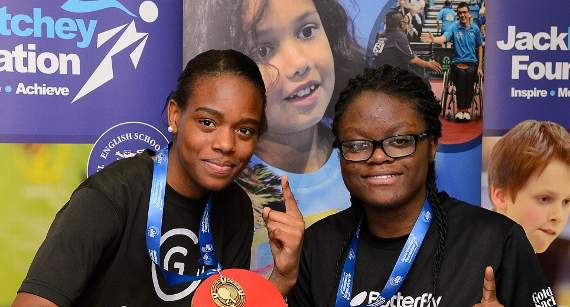 Two girls from Barking school conquer competition in table tennis tournament