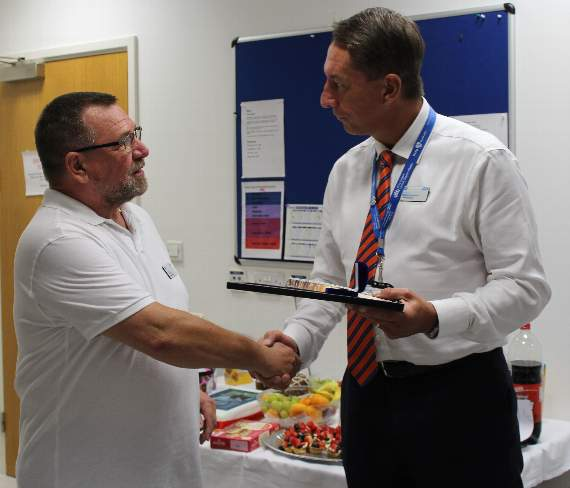 Dagenham man retires after 44 years of working for hospital trust